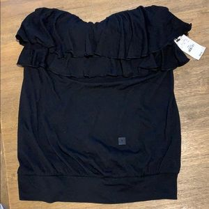 NWT Express sz Small.  Strapless ruffled top.